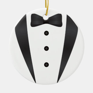 Tuxedo wedding gifts and props for groom round ceramic decoration