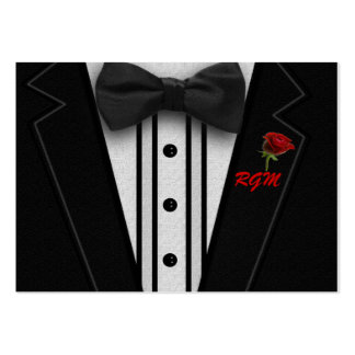 Tuxedo with Bow Tie Monogram Pack Of Chubby Business Cards