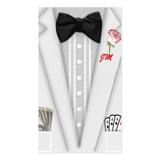 Tuxedo with Bow Tie Monogram Pack Of Standard Business Cards