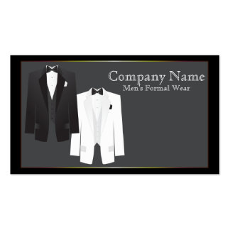 Tuxedos Men's Formal Wear Business Card