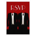 Tuxedos RSVP Personalized Invitations