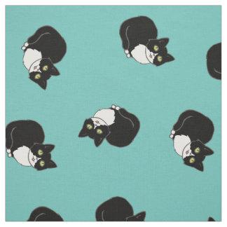 Tuxie Tuxedo Cat Fabric