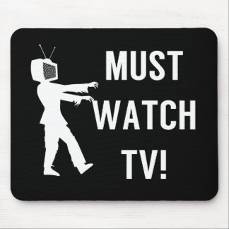 TV Addict Funny Zombie Mouse Mat