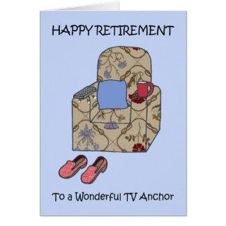 TV Anchor Happy Retirement Card