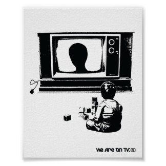 TV and Child Poster