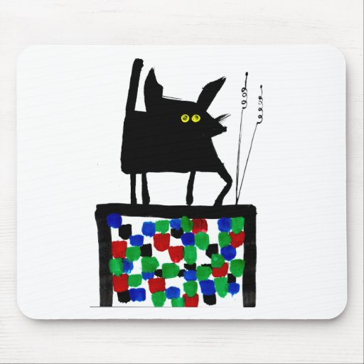 TV Cat Mouse Pads