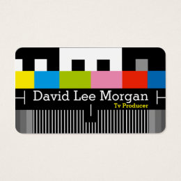 Tv producer business cards business card printing zazzle uk tv film producer video business card colourmoves Image collections
