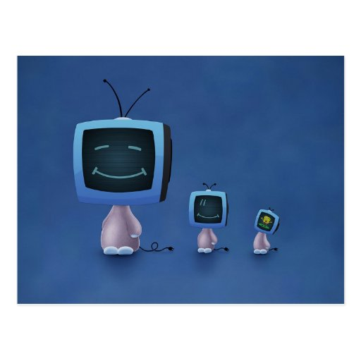 TV Heads (Colour 2) Postcard
