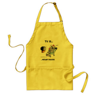 TV is... Action Movies Standard Apron