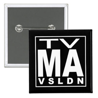 TV MA Rating 15 Cm Square Badge