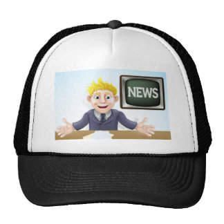 TV Newscaster cartoon Cap