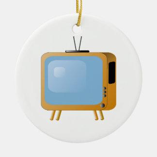 TV Set Round Ceramic Decoration