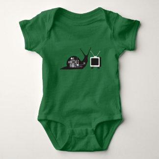 TV Snail Baby Jersey Bodysuit
