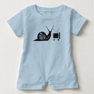TV Snail Baby Romper