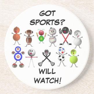 TV Sports Fanatic Coaster