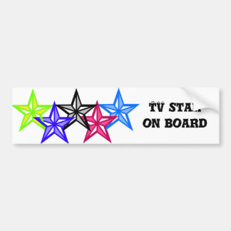 TV Star on board Bumper Stickers
