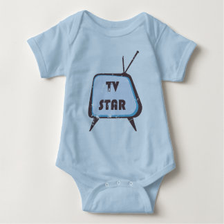 TV Star Retro television set Infant Creeper