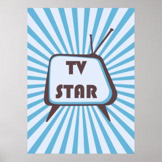 TV Star Retro television set Print