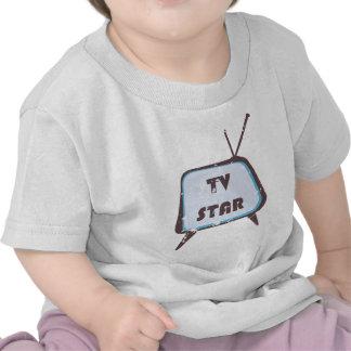 TV Star Retro television set Tees