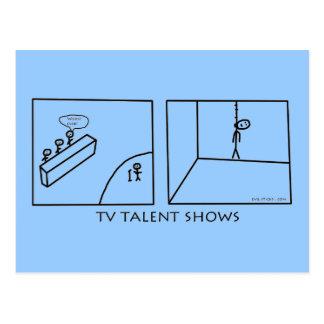 TV Talent Shows Postcard