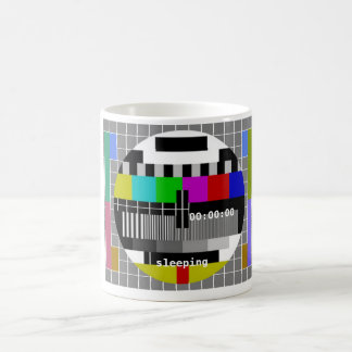 Tv Test Card Closedown Basic White Mug