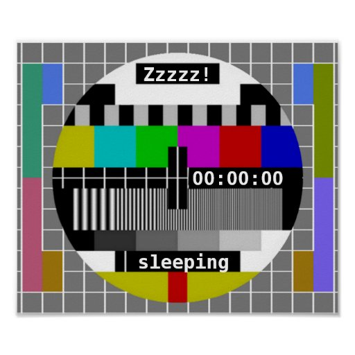 Tv Test Card Closedown Print