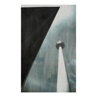 TV tower Berlin kind Poster