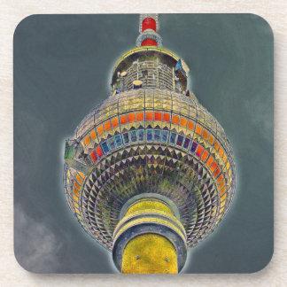 Tv Tower (Fernsehturm), Berlin, Art Effect Beverage Coaster