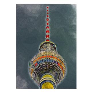 Tv Tower (Fernsehturm), Berlin, Art Effect Business Card