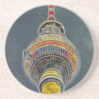 Tv Tower (Fernsehturm), Berlin, Art Effect Beverage Coasters
