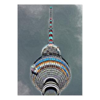 Tv Tower (Fernsehturm), Berlin, Artistic (tv2art2) Large Business Cards (Pack Of 100)