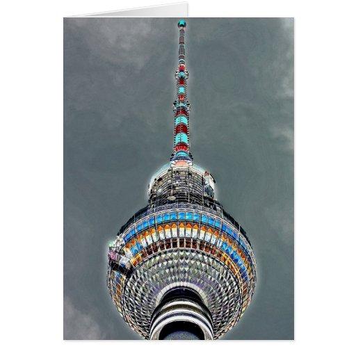 Tv Tower (Fernsehturm), Berlin, Artistic (tv2art2) Greeting Cards