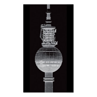 Tv Tower (Fernsehturm), Berlin,Grey (tv14bw) Double-Sided Standard Business Cards (Pack Of 100)