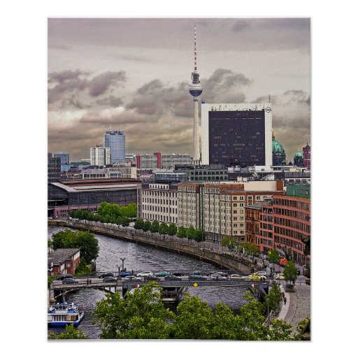 Tv Tower (Fernsehturm), Berlin, Panoramic(tv11pst) Posters