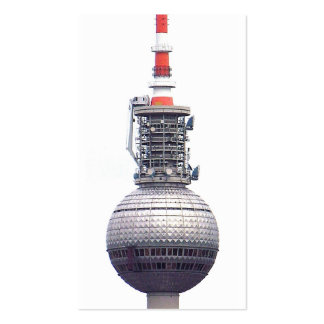 Tv Tower (Fernsehturm), Berlin,Red (tv14) Double-Sided Standard Business Cards (Pack Of 100)