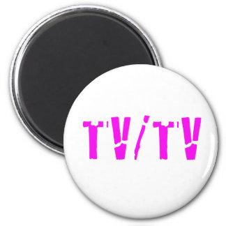 TV/TV 6 CM ROUND MAGNET