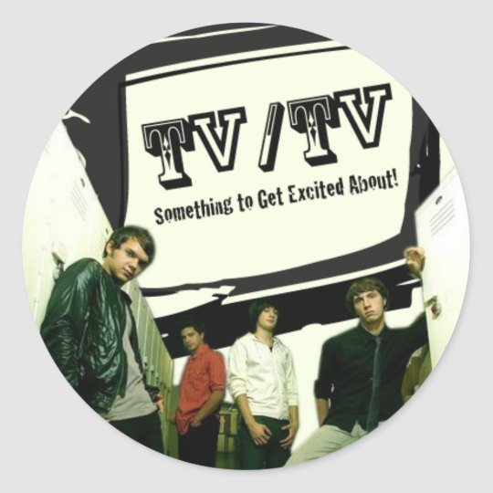 TV/TV ROUND STICKER