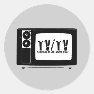 TV TV ROUND STICKER