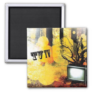 TV/TV SQUARE MAGNET
