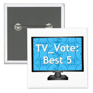 TV Vote Official Button Badge