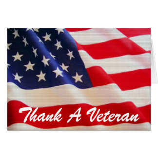 TVAREF - Thank A Veteran Card