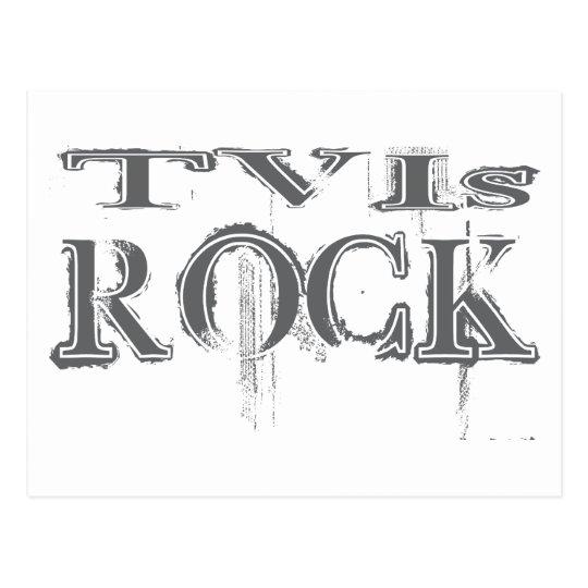 TVIs Rock Postcard