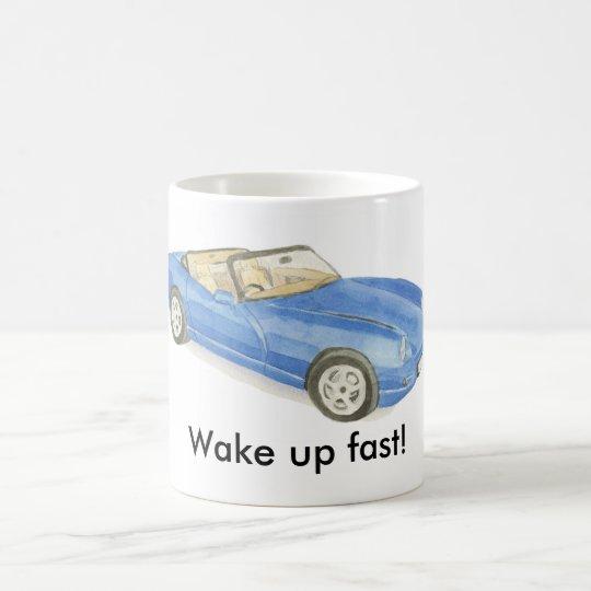 TVR Chimaera, blue car mug