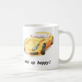 "TVR Sagaris classic car mug, ""wake up happy"" Coffee Mug"