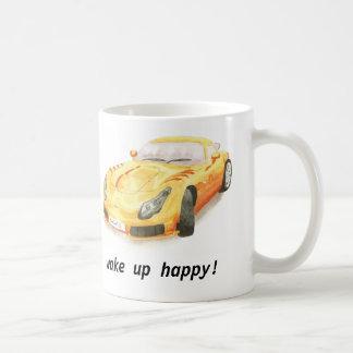 "TVR Sagaris classic car mug, ""wake up happy"" Coffee Mug"