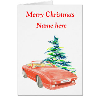 TVR Tasmin Christmas card, customisable Card