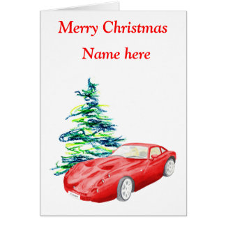 TVR Tuscan Christmas card, customisable Card