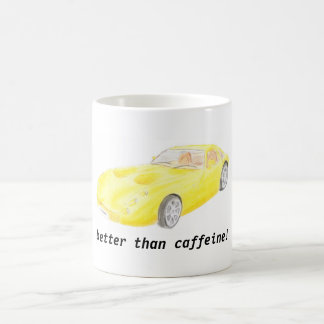 TVR Tuscan yellow car mug, better than caffeine Coffee Mug