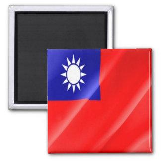 TW - Taiwan Formosa - Flag Waving Magnet