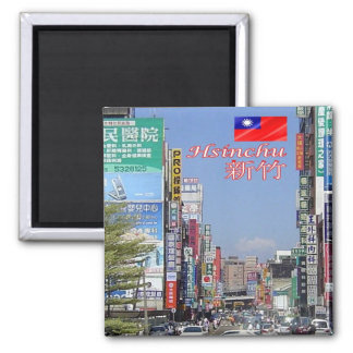 TW - Taiwan Formosa - Hsinchu Square Magnet